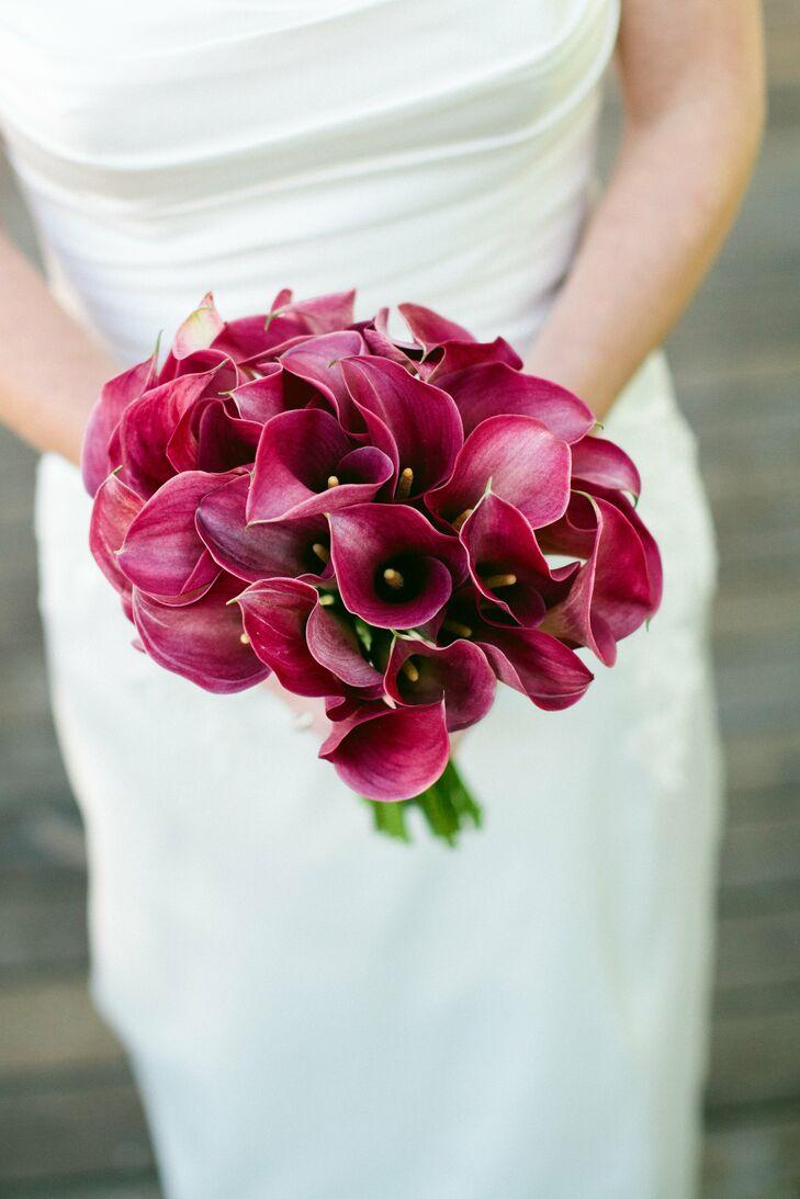 Fuchsia Calla Lily Bridal Bouquet