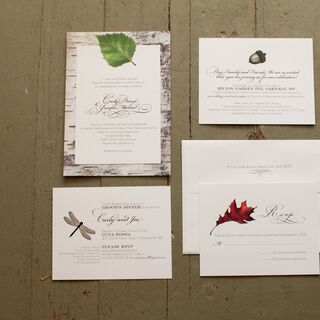 Real Fall Wedding Invitations