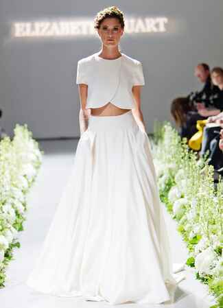 Crop top Elizabeth Stuart wedding dress