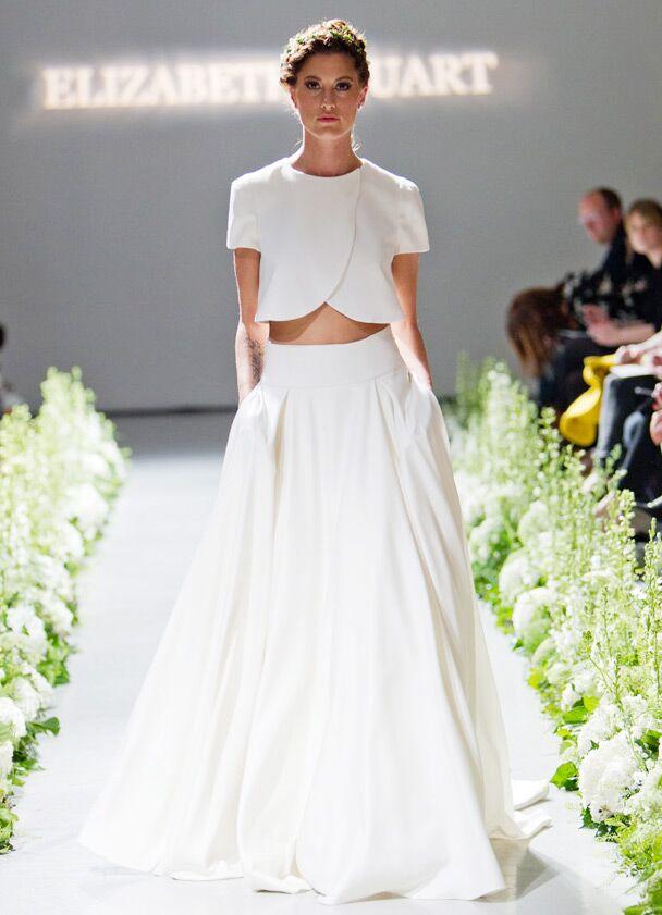 Flapper Style Wedding Dresses 94 Amazing Crop top Elizabeth Stuart