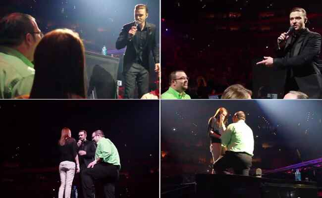 Justin Timberlake Helped A Fan Propose