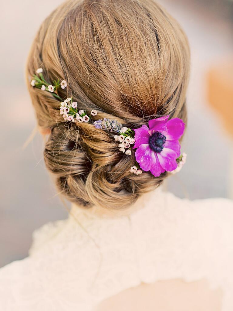 hair wedding styles with flowers 17 wedding hairstyles for hair with flowers 9028