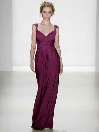 Kelly Faetanini Spring 2018 pleated bodice jersey gown