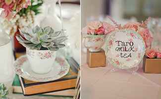 tea party inspired reception decor | blog.theknot.com
