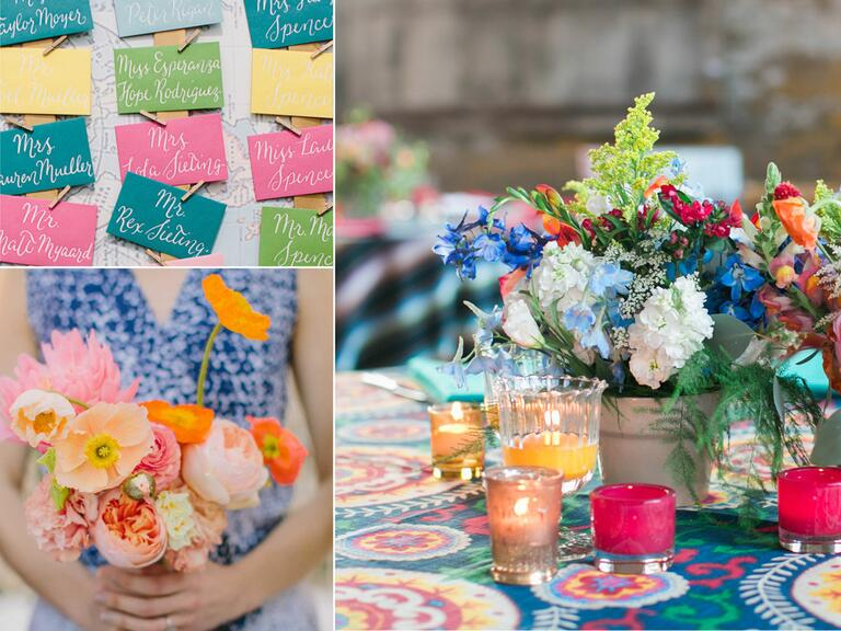 Bright wedding color palettes