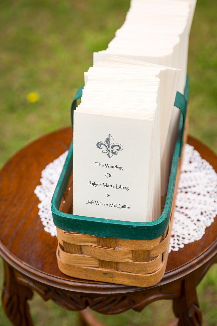 Fleur de Lis Wedding Programs