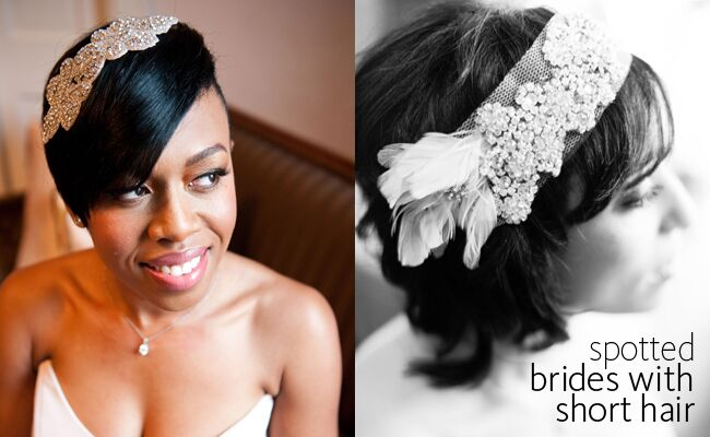 Brides With Short Hair Have More Wedding Hairstyle Options