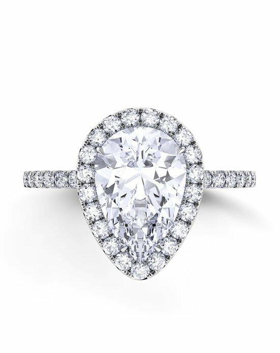 Danhov Per Lei Single Shank Pear Engagement Ring photo