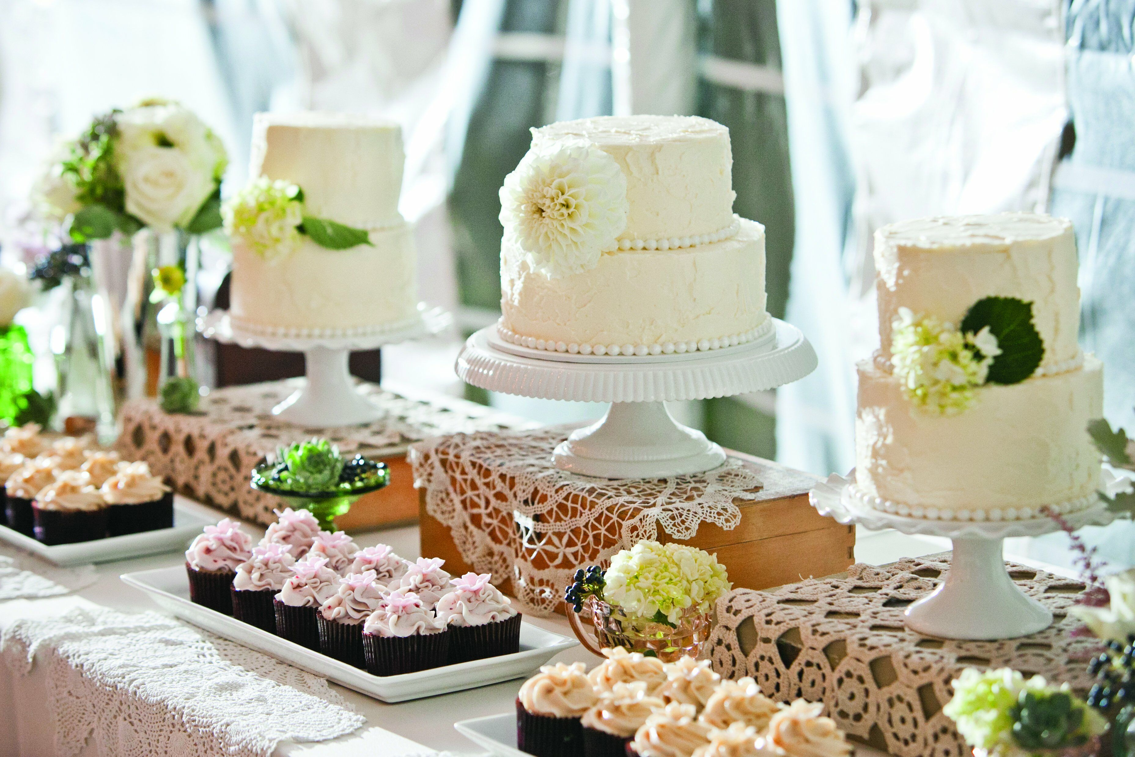 Cake and Cupcake Table
