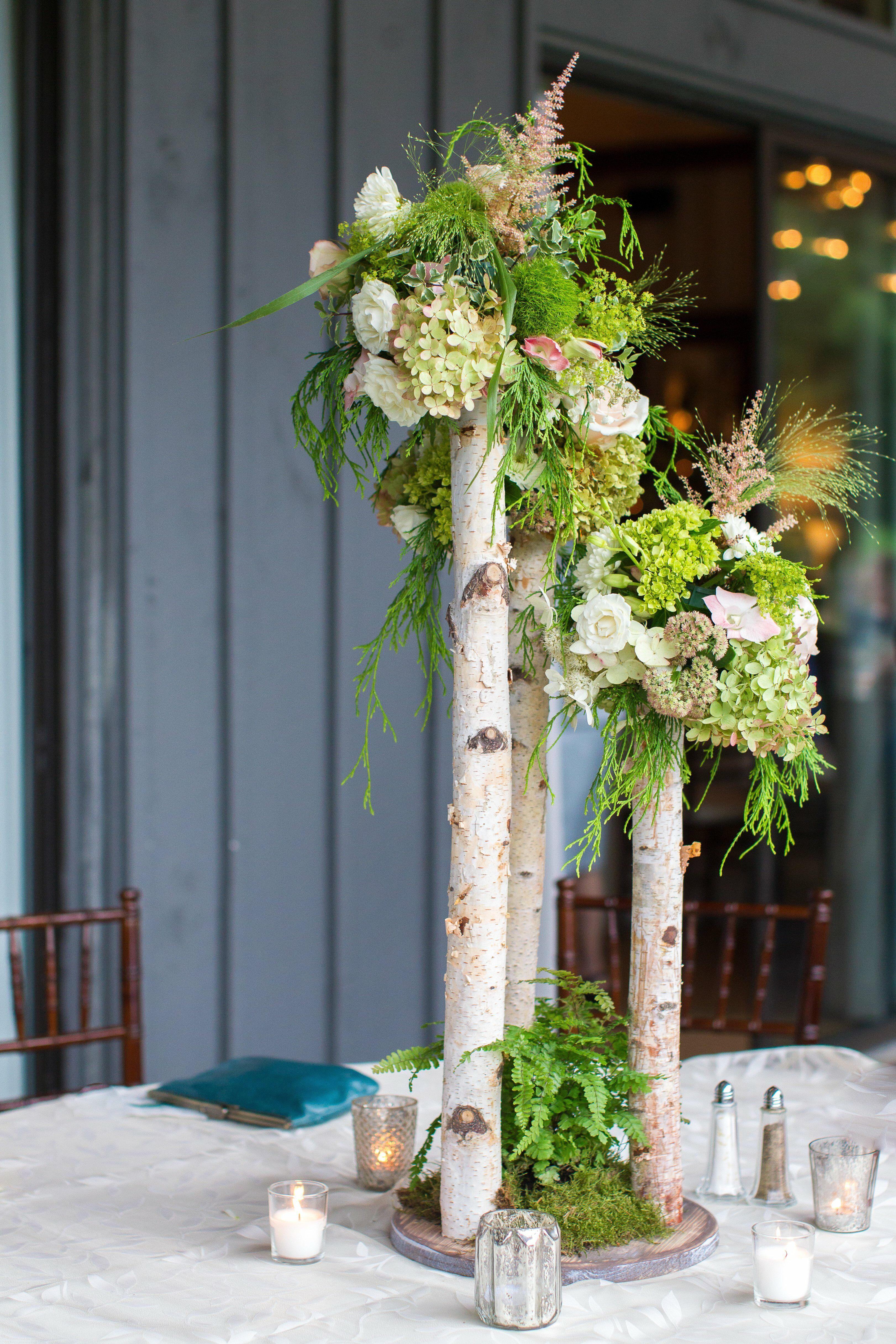 Tall Rustic Branch Centerpieces
