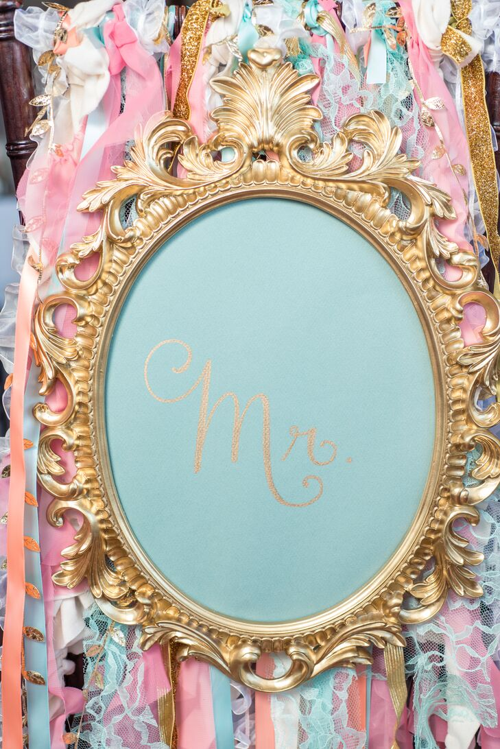 Whimsical Mr. and Mrs. Chair Decorations