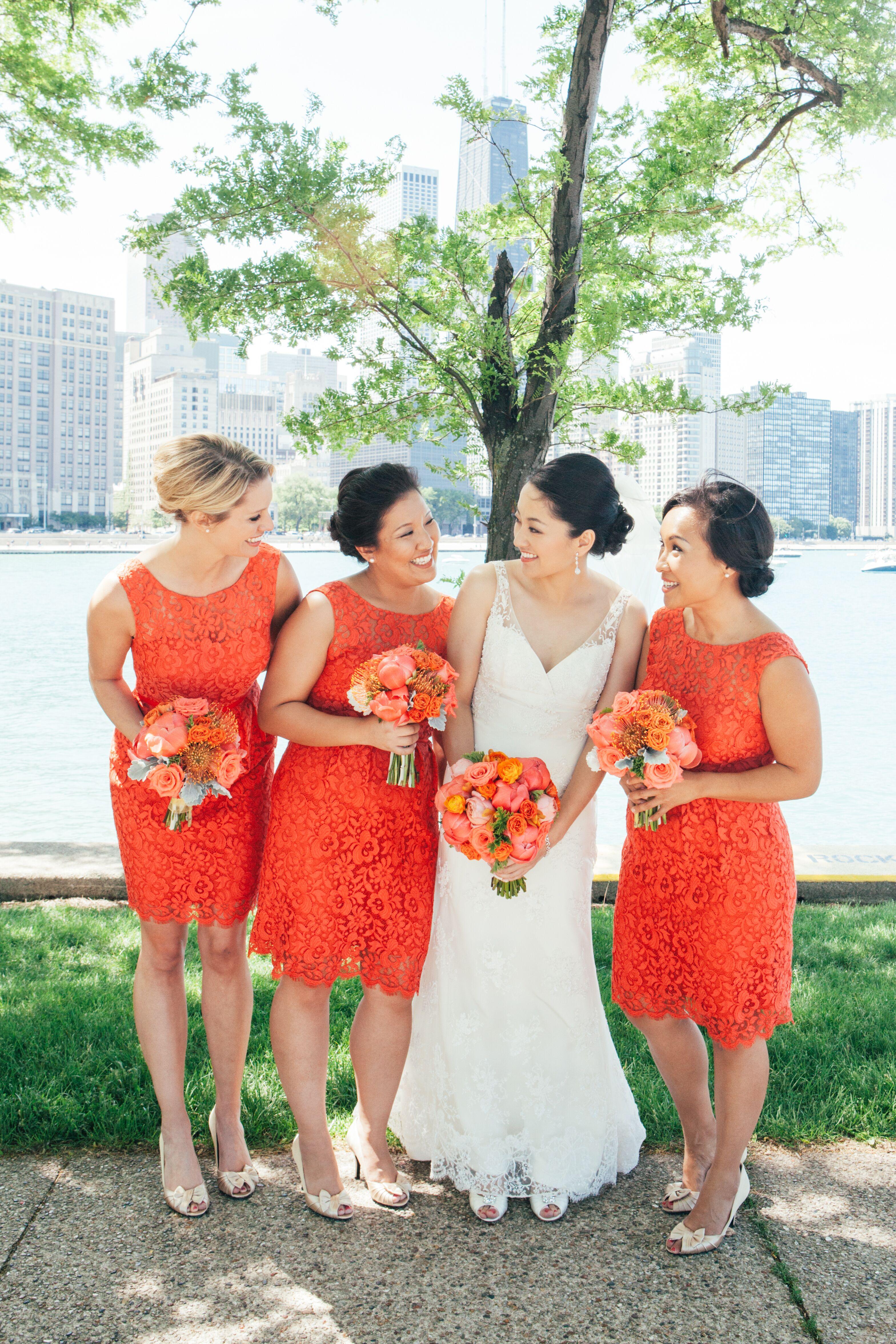 Jenny Yoo Paprika Lace Bridesmaid Dresses