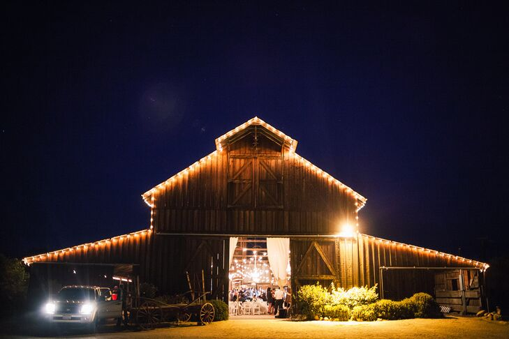rustic barn wedding string lights barn wedding lights