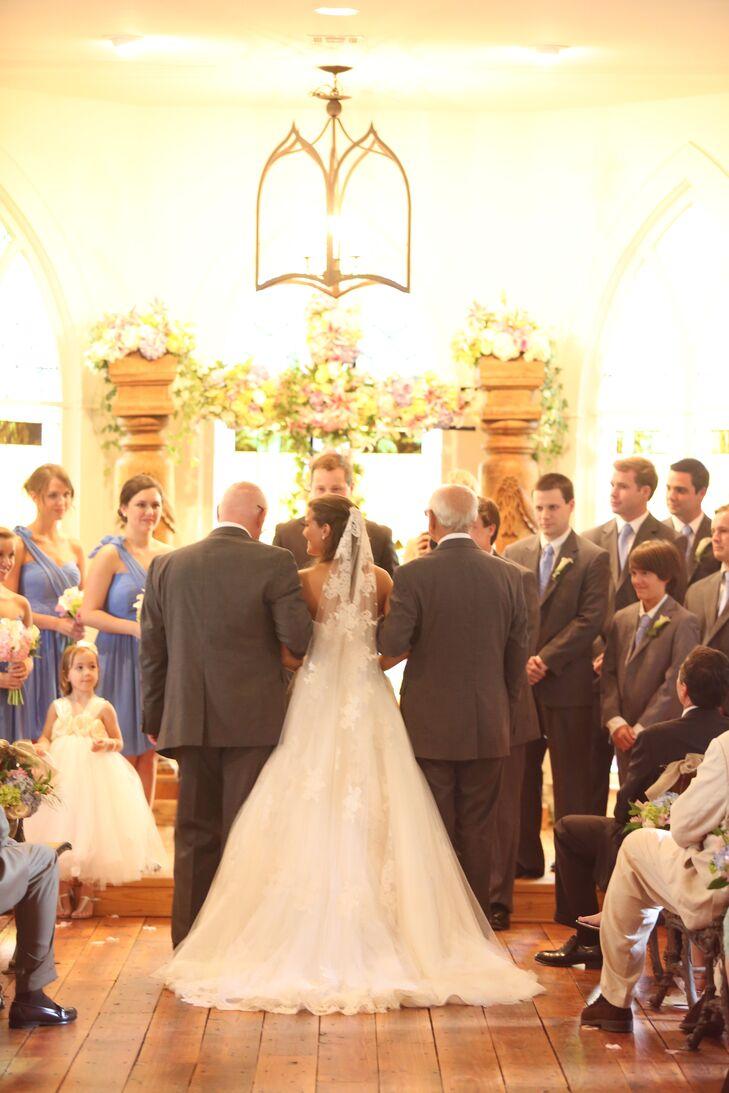 Romantic Indoor Wedding Ceremony The Oaks
