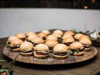Slider hors d'oeuvres at wedding reception