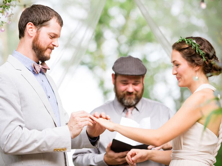 Wedding vows with civil officiant