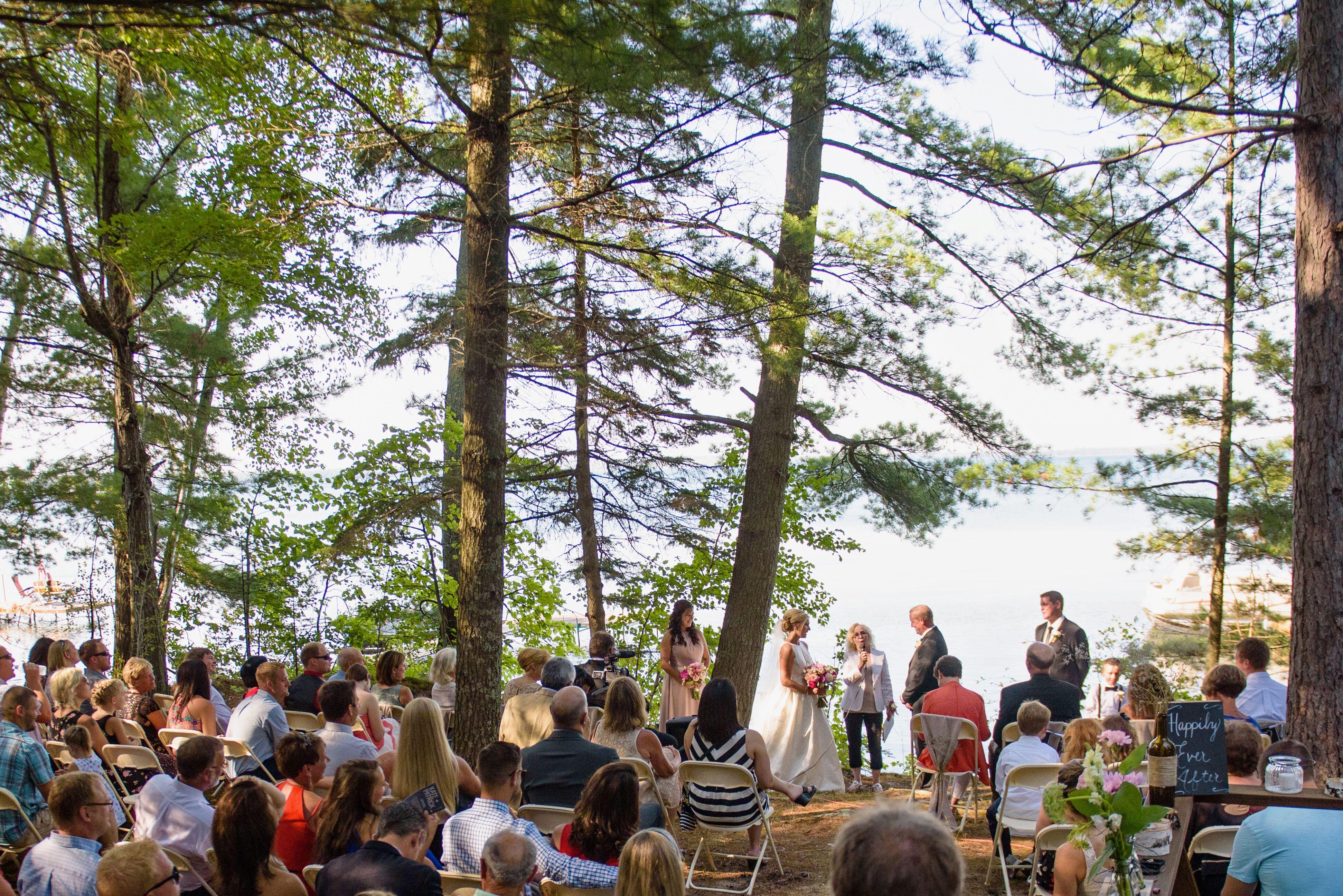Ten Mile Lake Outdoor Wedding Ceremony