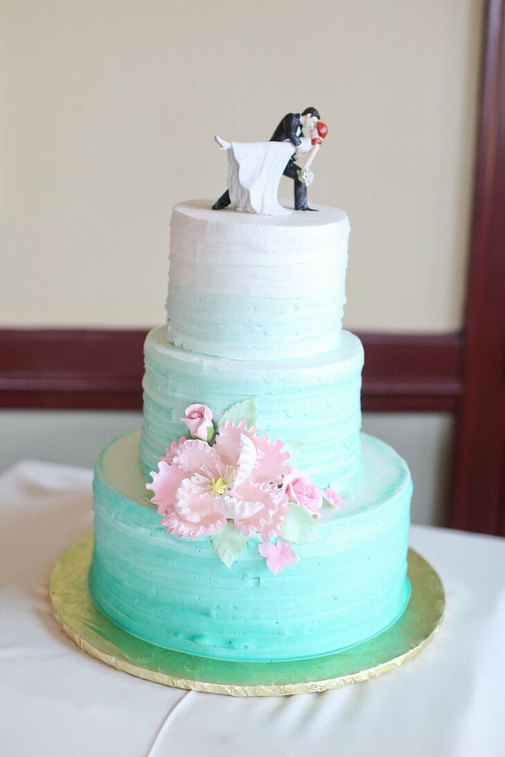 blue ombre wedding cake blue ombre wedding cake 11997