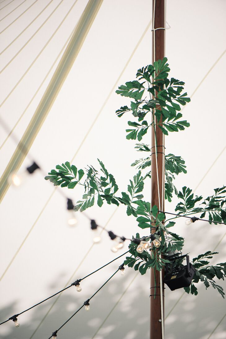 Greenery Tent Pole Decor