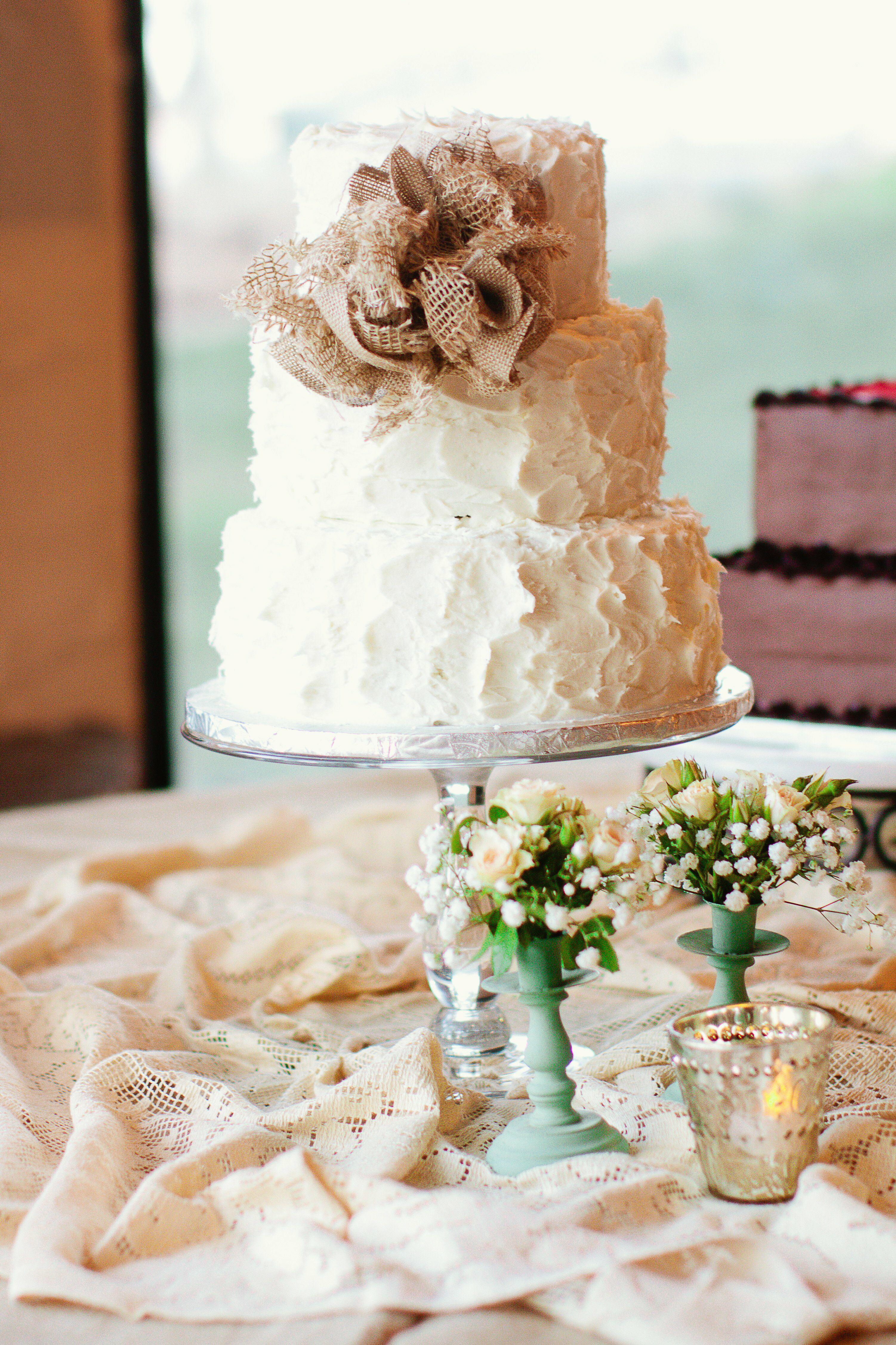 Buttercream Wedding Cake with Cascading Roses No.W200
