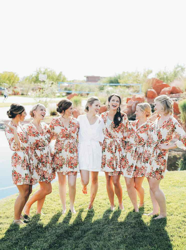 Matching bridal party robes