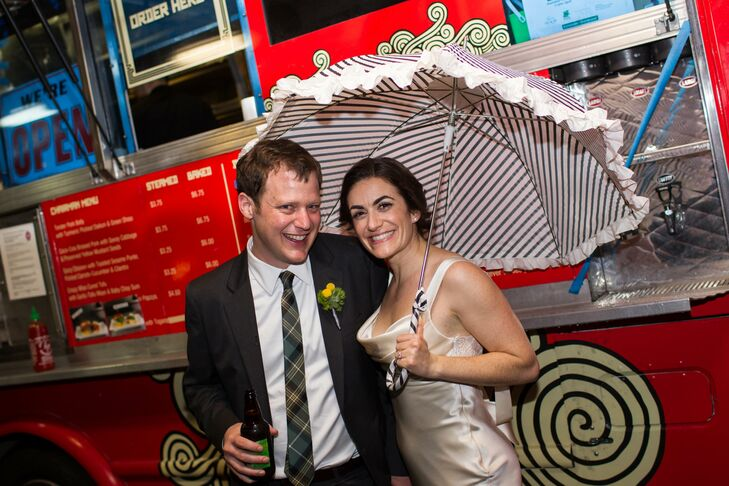 Bride and Groom at Food Truck