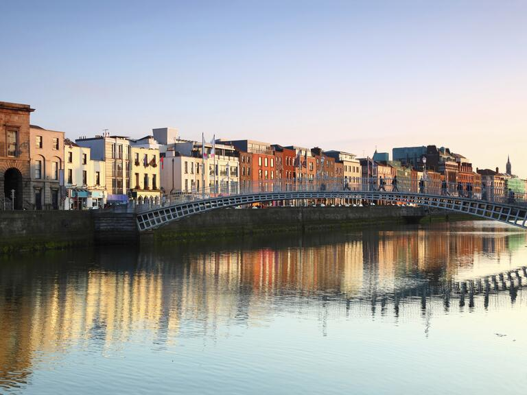 Dublin, Ireland's  Ha'penny Bridge
