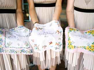 Bridesmaid handkerchief