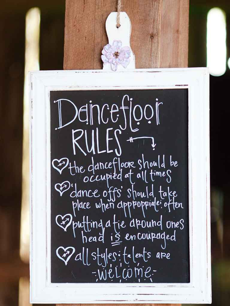 18 Unique Chalkboard Wedding Sign Ideas