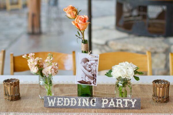 Rustic Mason Jar Table Decor