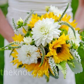 Sunflower wedding bouquets yellow and white bouquet junglespirit Image collections