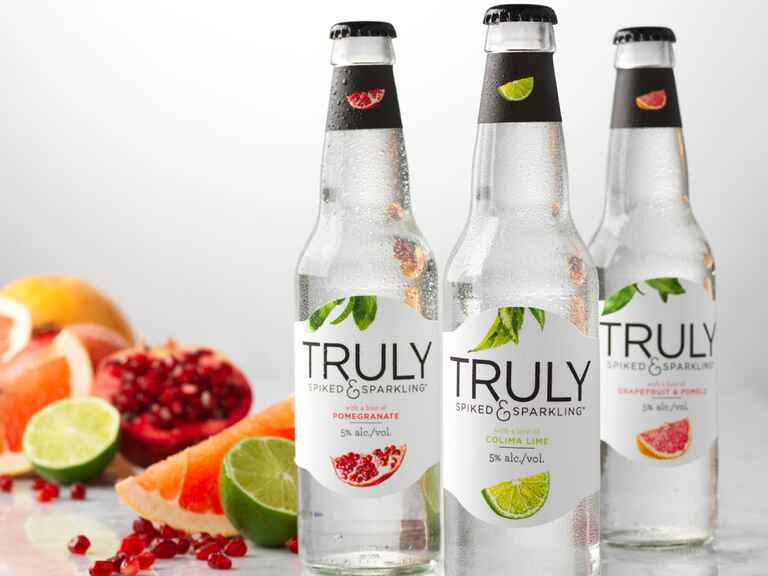Truly spiked and sparkling water