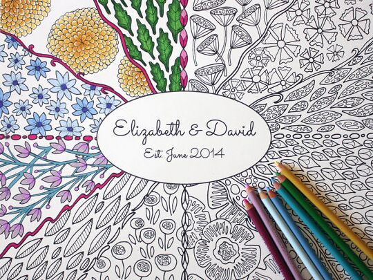 How To Add The Coloring Book Trend Into Your Wedding Day Details