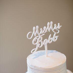 DIY Custom Wedding Cake Topper