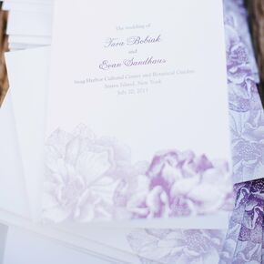 purple botanical floral designed invitations - Wedding Invitations Purple