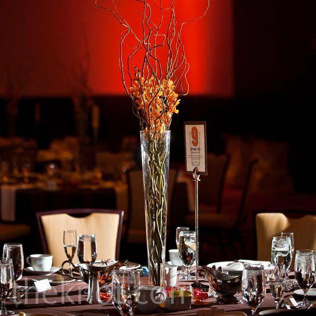 Orange Flower Arrangements For Weddings: Orange Wedding Reception Centerpieces