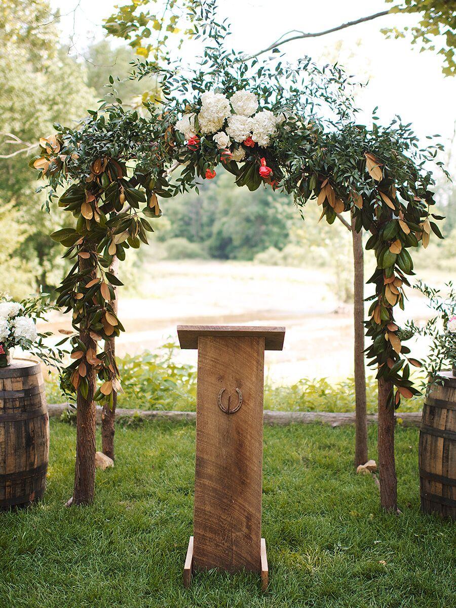 60 Best Garden Wedding Arch Decoration Ideas – Pink Lover  |Outdoor Arch Decorations