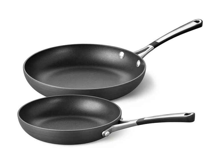 2-piece stir-fry pan set