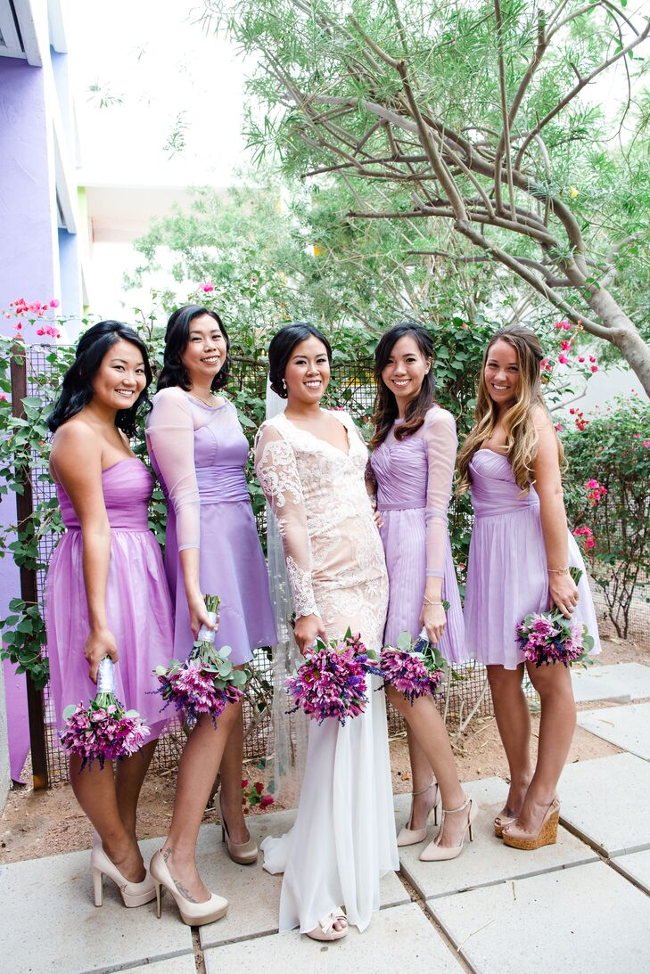 Lavender and lilac bridesmaids dresses in phoenix arizona ombrellifo Images