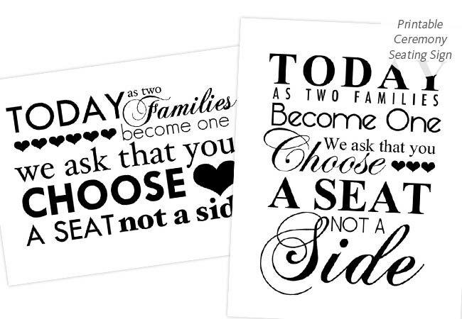 DIY Printable Wedding Ceremony Seating Sign Intimate Weddings TheKnot