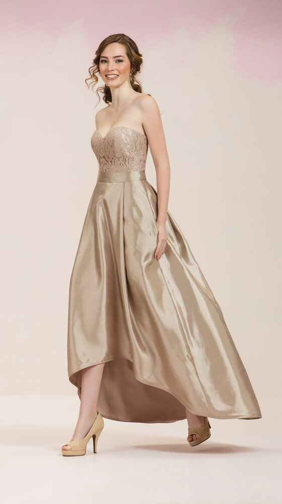 gold bridesmaid dress by JASMINE
