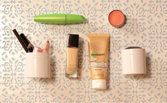 Easy DIY Makeup Storage by Bridget Lappert of Broke But Bougie