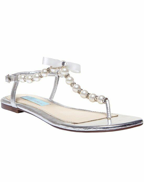 Blue by Betsey Johnson SB-Pearl- Silver Wedding Shoes photo