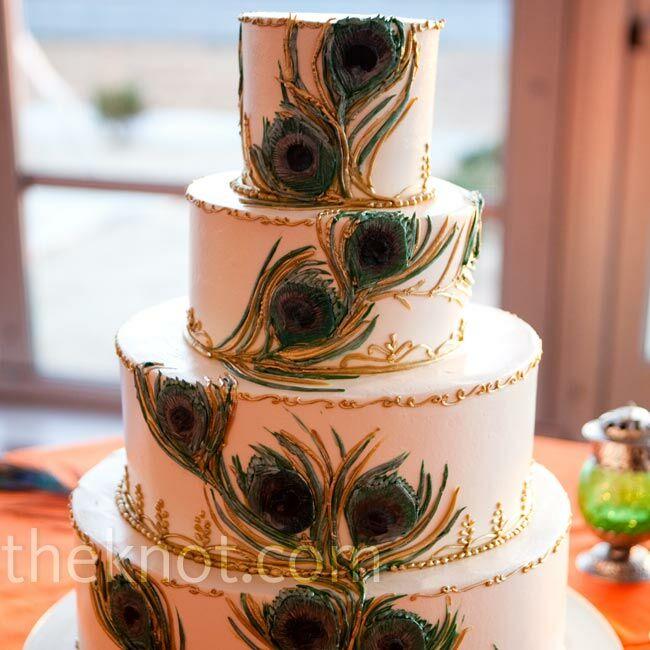 Peacock Feather Wedding Cake: Peacock Feather Cake