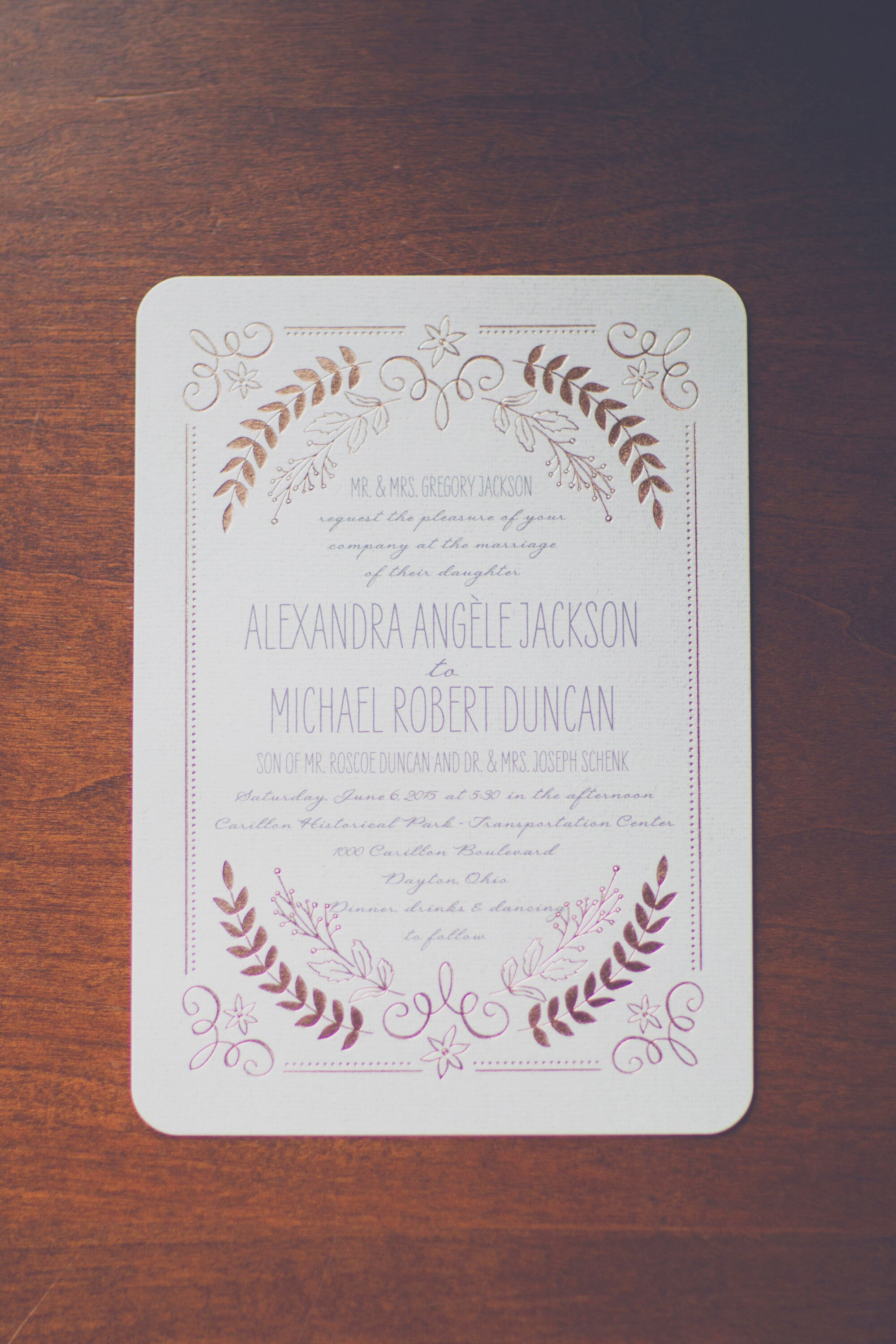 Wedding Invitations Dayton Ohio: Vintage Wedding Invitations With Gold Foil