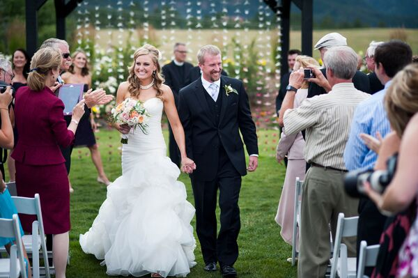 Erica and Jace Recessional at Crooked Willow Farms