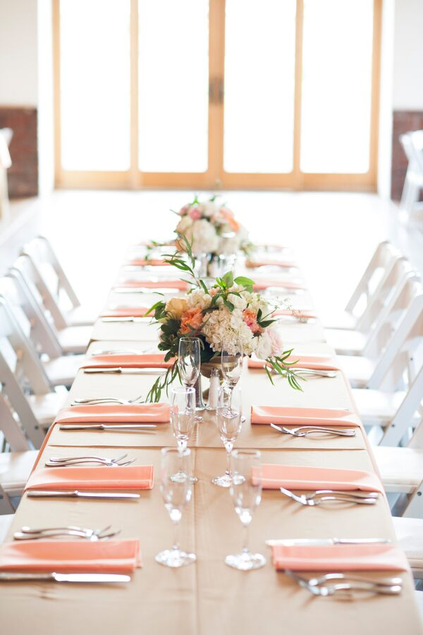 Blush, Ivory and Green Floral Centerpieces