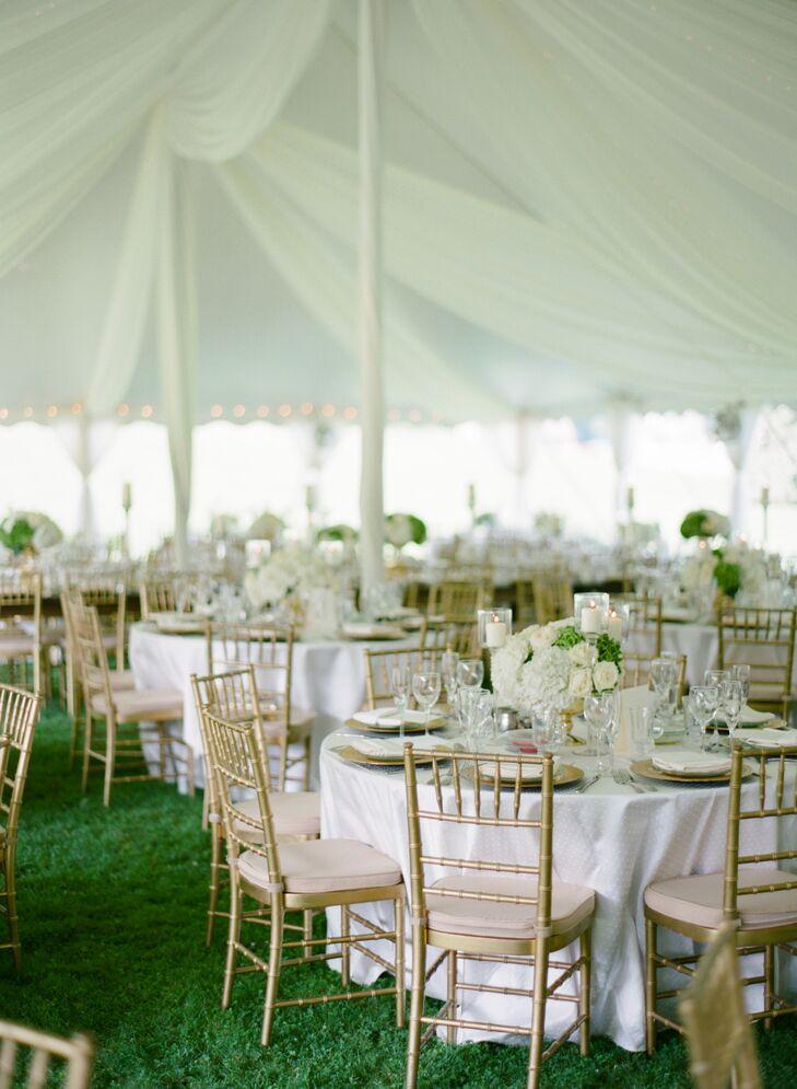 Gold Chiavari Chairs with White Linens