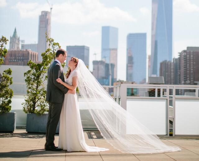 A Clic Vintage Inspired Wedding At Tribeca Rooftop In New York