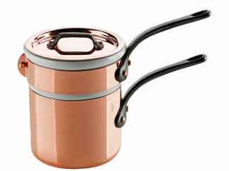 M'Tradition Bain Marie copper nesting pots